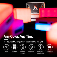 Load image into Gallery viewer, Aputure Amaran MC RGBWW Mini Video Light On Camera 3200K-6500K - Vitopal