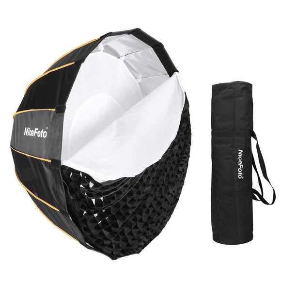 NiceFoto LED 90cm Quick Set-up Folding Deep Parabolic Umbrella Softbox Photography Studio SoftBox with Grid Carry Bag 90cm for Photo Studio Lighting Flash for Nicefoto,falconeyes