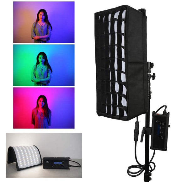 Menik CB-68 RGB Flexible Led Video Light 2750k-6500k 80W with Honeycomb Grid