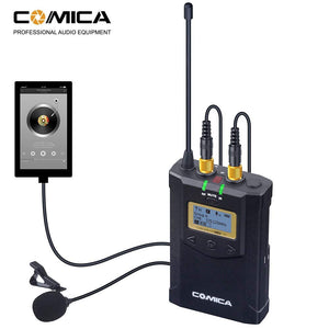 Comica CVM-WM100 Plus UHF 48-Channel Wireless Dual Lavalier Microphone System - Vitopal
