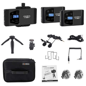 COMICA CVM-WS60 COMBO 1-Trigger-2 dual transmitter and one receiver Flexible Mini Wireless Microphone - Vitopal