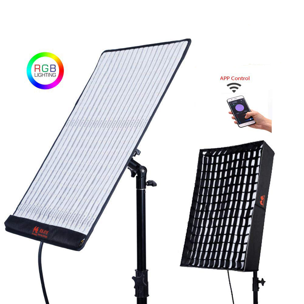 Falconeyes RX-818 RGB 100W Roll-Flex LED Light with Honeycomb Grid Softbox - Vitopal