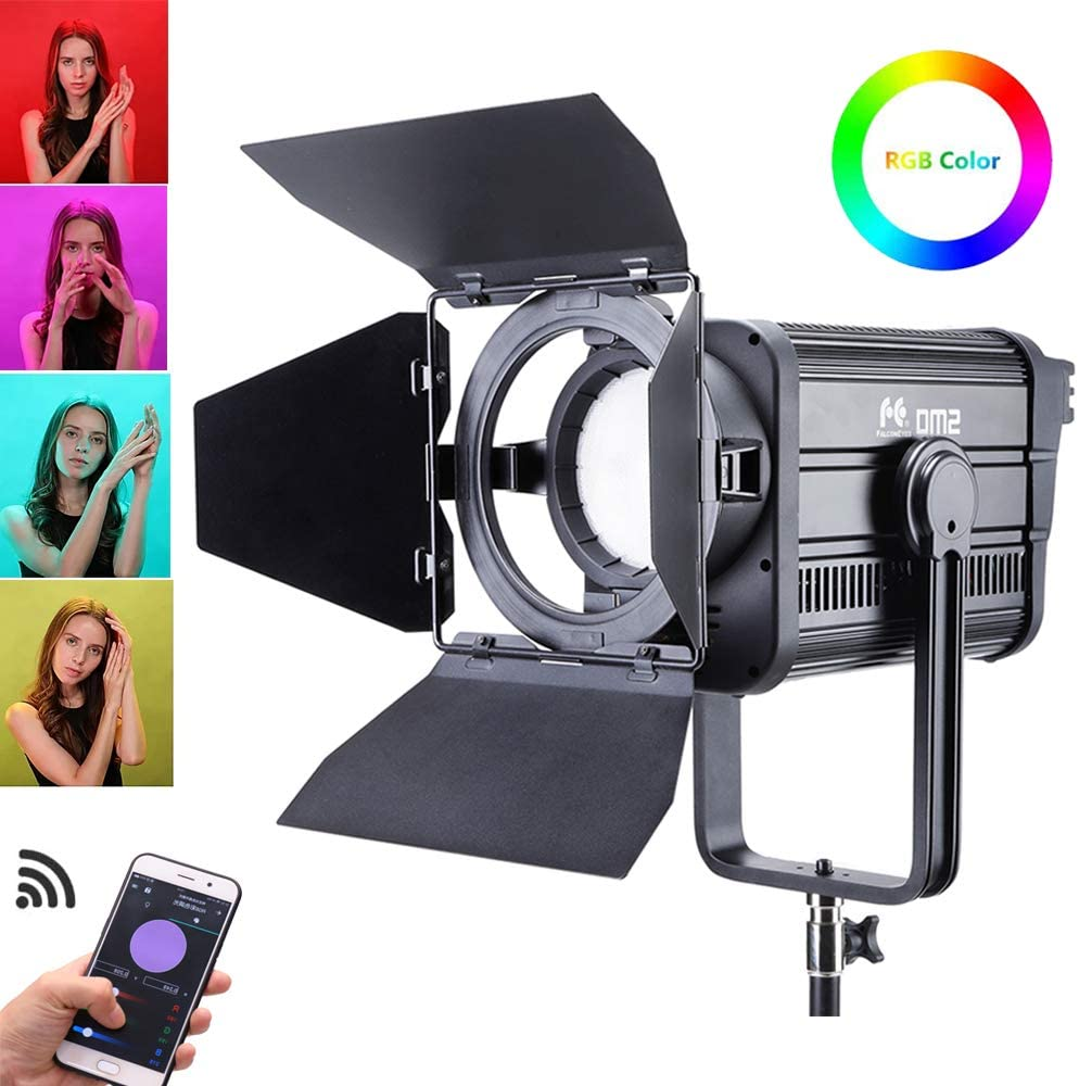 Bluetooth Remote Control with 8 Scene Modes Falcon Eyes Professional Photographic Equipment DESAL DS-811 RGB 200W Color Temperature 2800K-10000K Soft LED Light Support DMX-512 HSI
