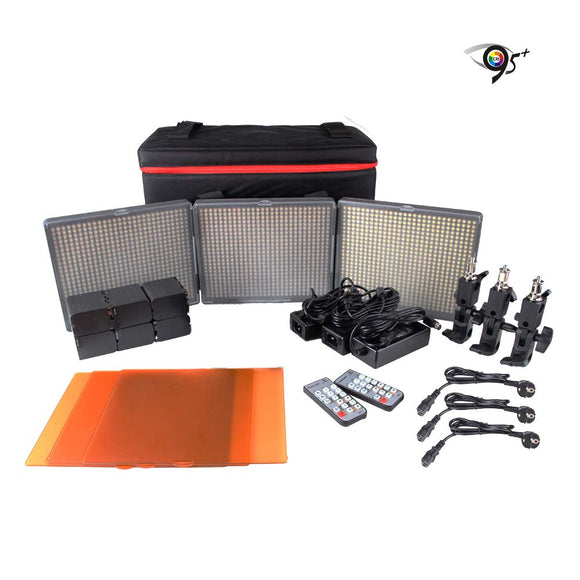 Aputure 672WWS Led Video Light Panel HR672KIT (HR672S + HR672W*2) Studio Lighting Kit