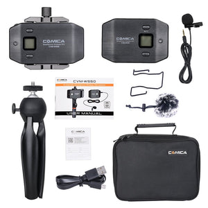 Comica CVM-WS50(C) Mobile Professional Lavalier Wireless System 6-Channels - Vitopal