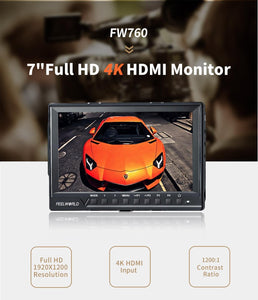 "Feelworld FW760 7"" IPS Ultra-Thin 1920x1200 On-Camera Video Monitor - Vitopal"