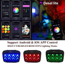 Load image into Gallery viewer, Falcon Eyes F7 Mini RGB Led On Camera Video Light,Power 5W,Bi Color 2500K-9000K CRI 96+,HSI/RGB/LEE/Rosco Mode, Built-in Lighting Effect App Control with Honeycomb and Magic Arm