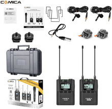 Load image into Gallery viewer, Comica CVM-WM200(C) 96-Channel Full Metal UHF Professional Wireless Lavalier Microphone System(394-Foot Range) - Vitopal