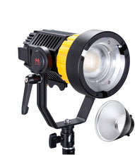 Load image into Gallery viewer, Falcon Eyes P12 Daylight 120W V-Mount 16-55° Angel Anjustable Video Light, Support DMX, 95400 Lux @ 0.5m, Pre-Programmed Lighting Effects, Bowens Mount Dual Power Supply - Vitopal