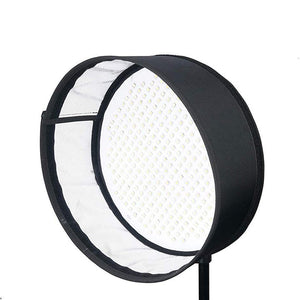 Menik CB-66A 66W Flexible Round Film LED Photographic Light 2750-6500K Bi-Color Studio Light with Honeycomb Grid Softbox CRI ≥95% Using Mobile APP Dimming (CB-66A with Honeycomb) - Vitopal