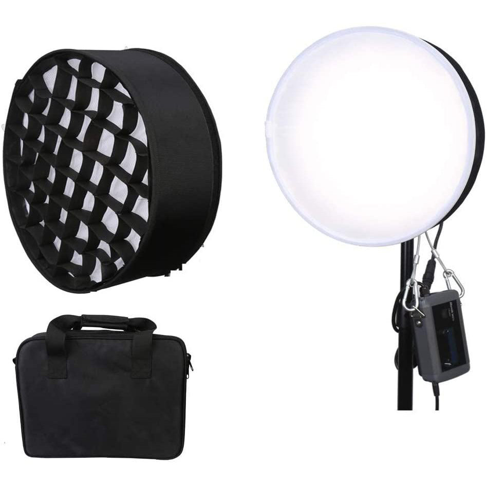 Menik CB-66A Round Film Bi-Color Light with Honeycomb Grid Softbox