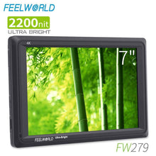 Load image into Gallery viewer, FEELWORLD FW279 7 Inch 2200nit Ultra Bright  1920x1200 4K DSLR Camera Field Monitor - Vitopal