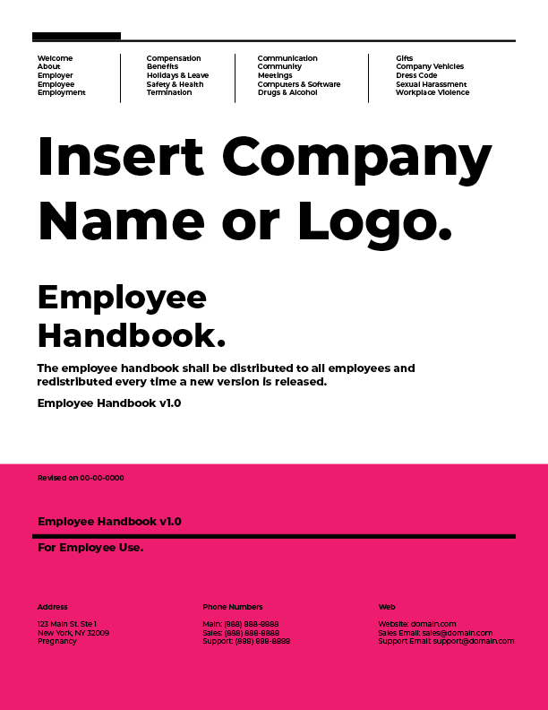 employee handbook samples best of 2018 employee handbooks