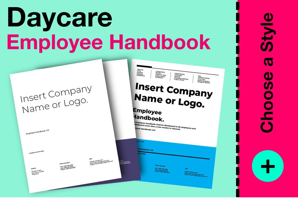 daycare employee handbook template download print employee