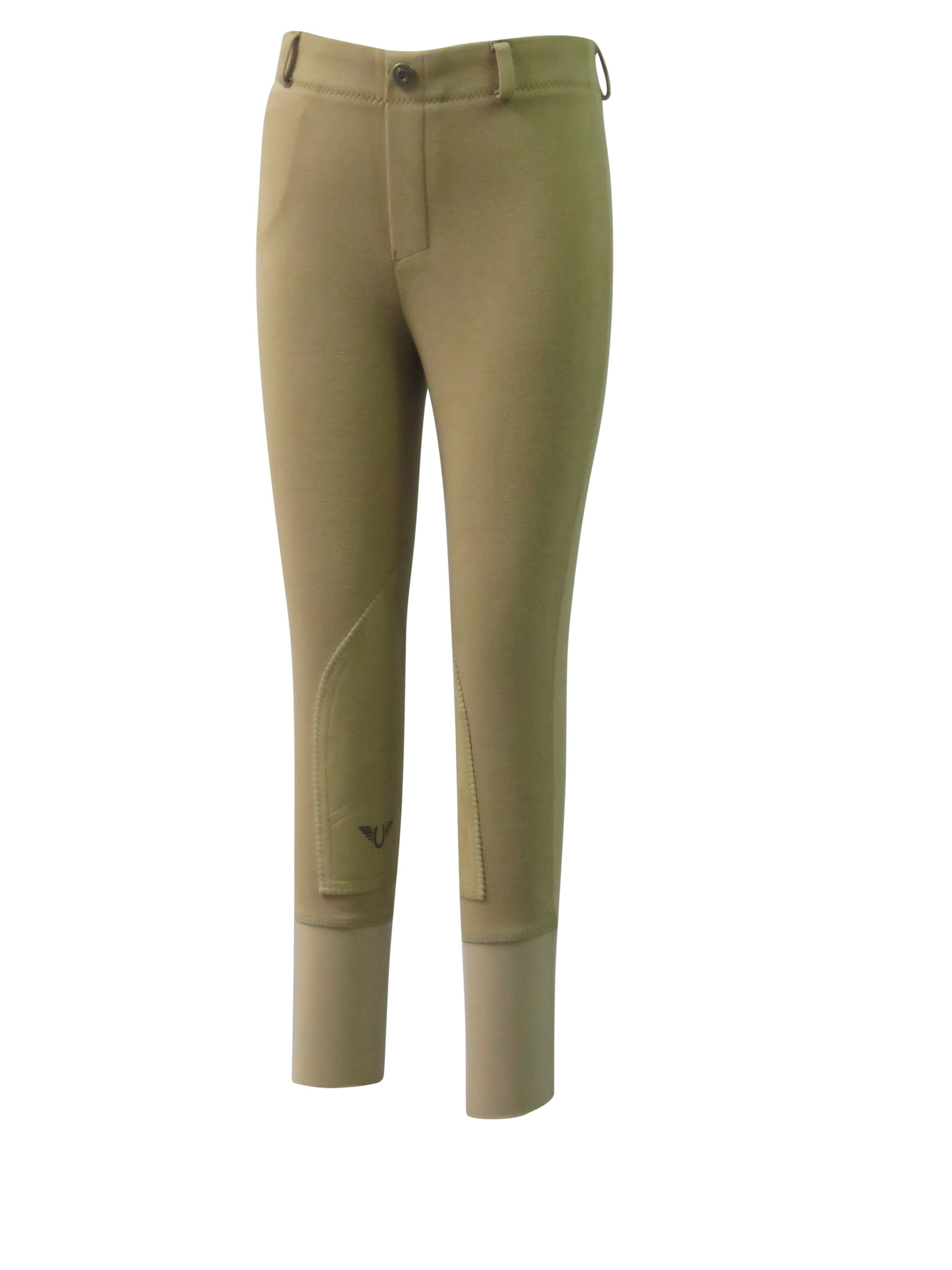 Children's Cotton Pull-On Knee Patch Breeches - TuffRider - Breeches.com