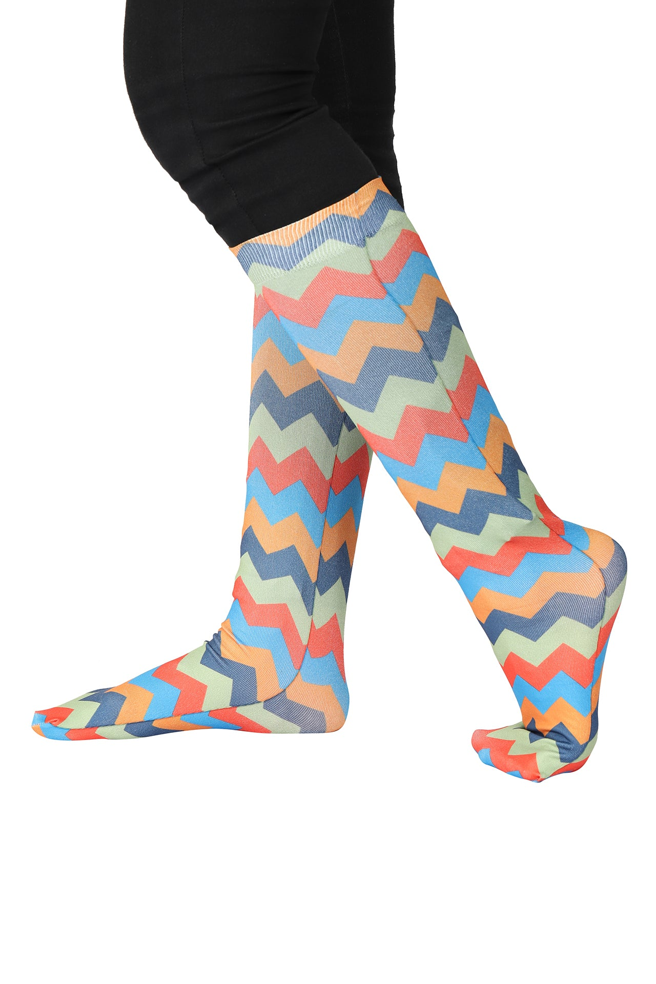 TuffRider Ladies CoolMax Printed Boot Socks_1
