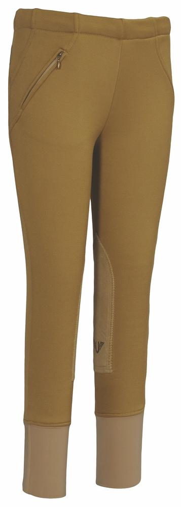 Children's Unifleece Pull-On Stretch Fleece Knee Patch Winter Breeches - TuffRider - Breeches.com