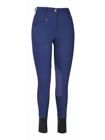 TuffRider Ladies Ribb Knee Patch Breeches (Long)_9