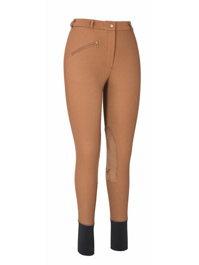 TuffRider Ladies Ribb Knee Patch Breeches (Long)_17