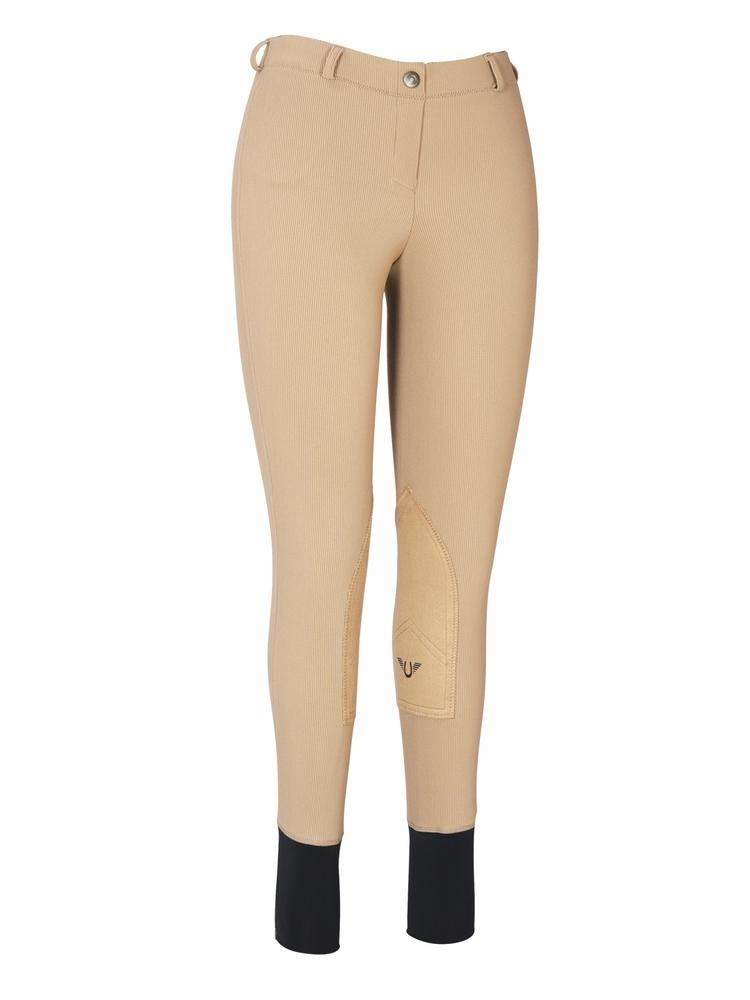 TuffRider Ladies Ribb Lowrise Pull-On Knee Patch Breeches_1