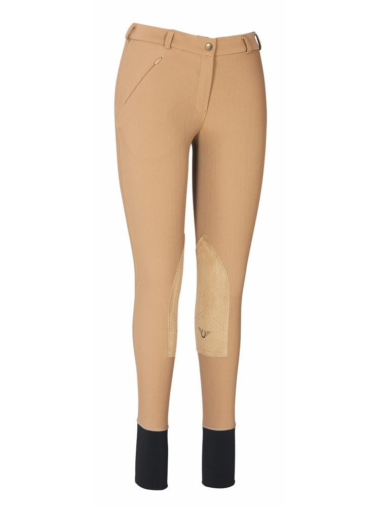 TuffRider Ladies Ribb Lowrise Knee Patch Breeches_1