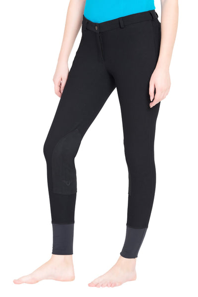 TuffRider Ladies Ribb Knee Patch Breeches (Long)_11