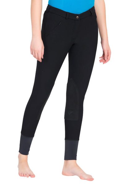 TuffRider Ladies Ribb Knee Patch Breeches (Long)_13