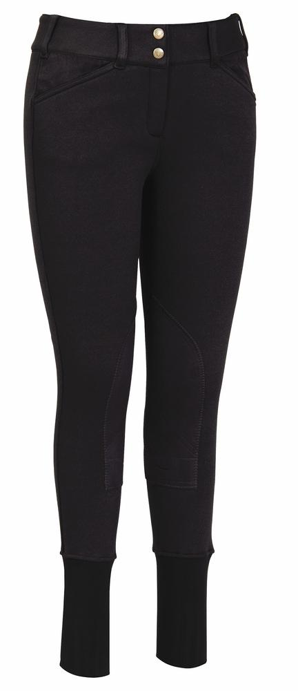 TuffRider Ladies Soft Shell Wide Waistband Knee Patch Breeches_1