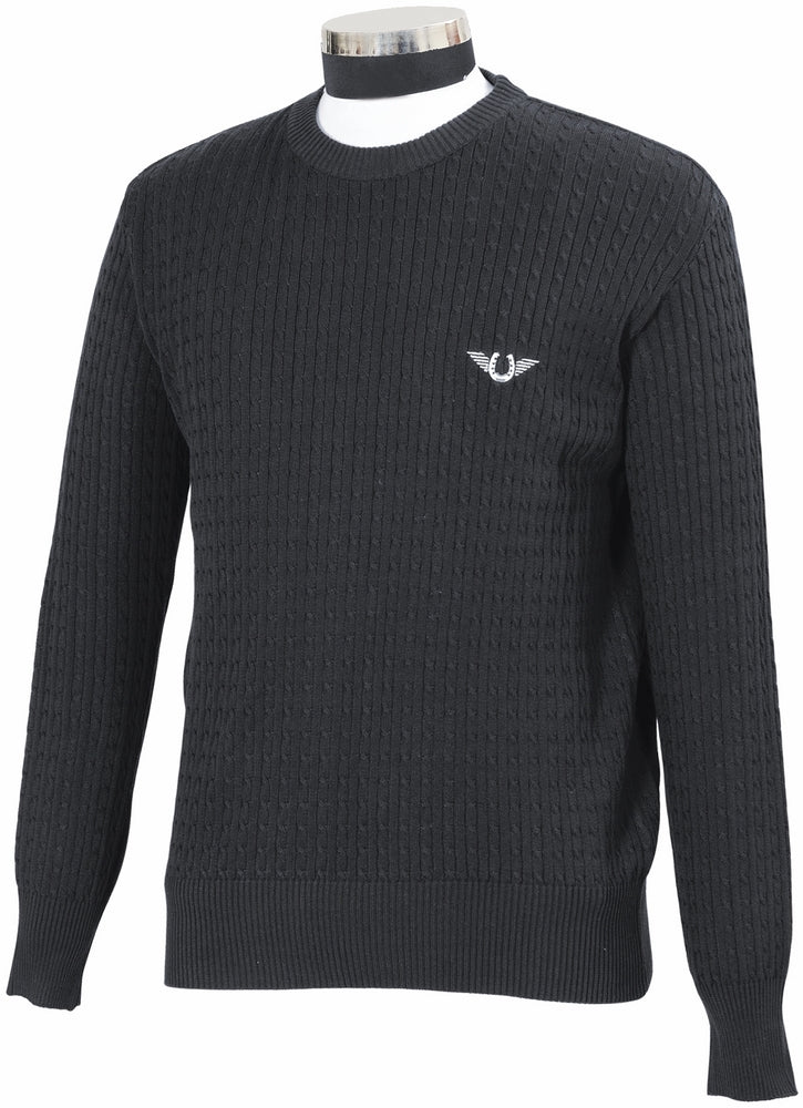TuffRider Men's Classic Cable Knit Sweater_1