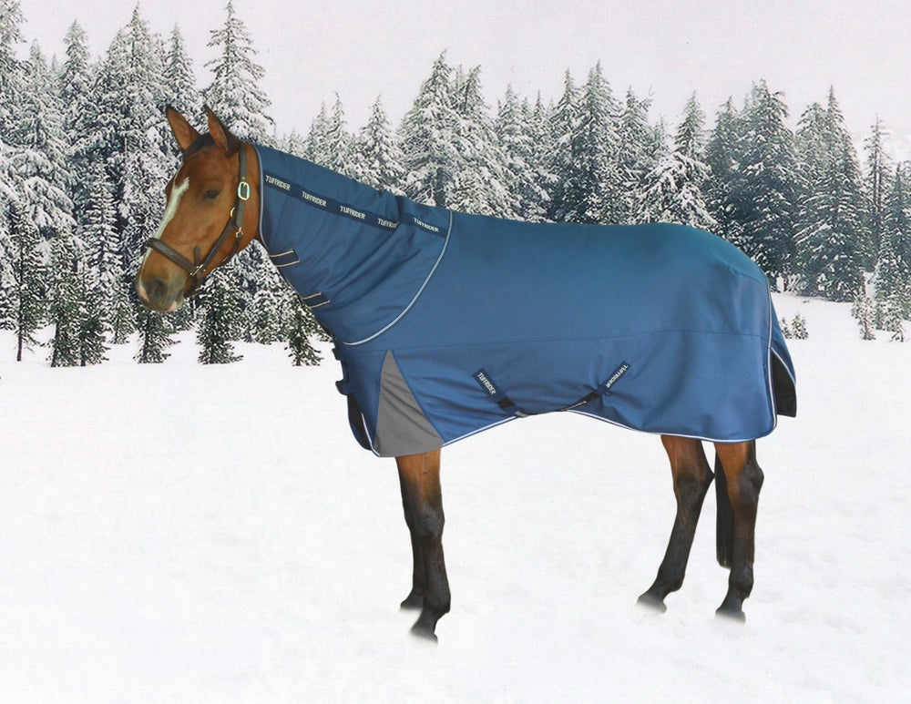 TuffRider Optimum 1680D Triple Weave Heavy Weight Turnout Blanket with Detachable Neck_1