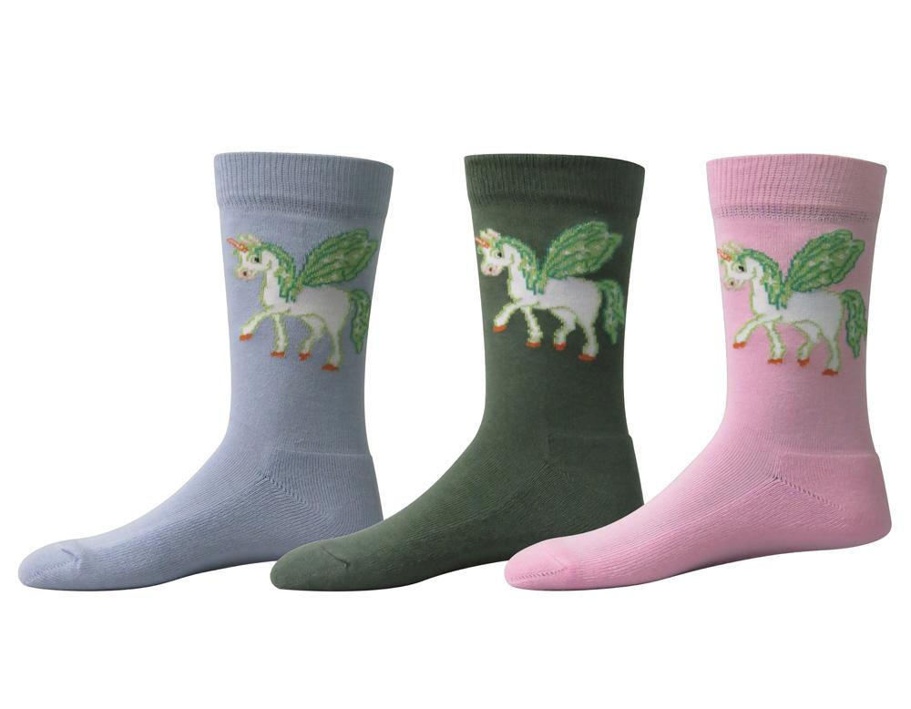 TuffRider Unicorn Kids Socks - 3 Pack_1