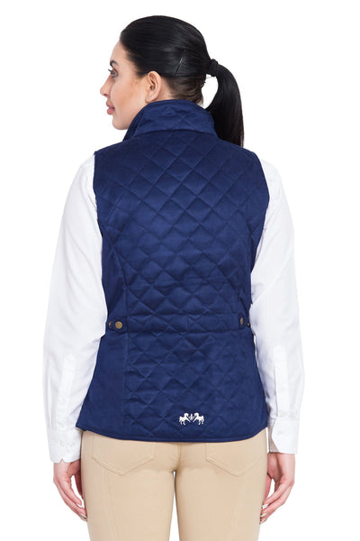 Equine Couture Ladies Spinnaker Micro Suede Vest_4