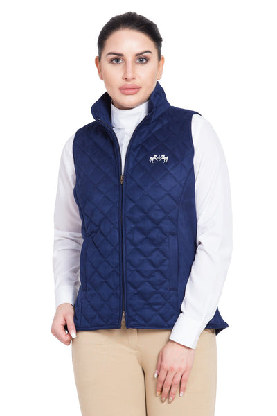 Equine Couture Ladies Spinnaker Micro Suede Vest_2