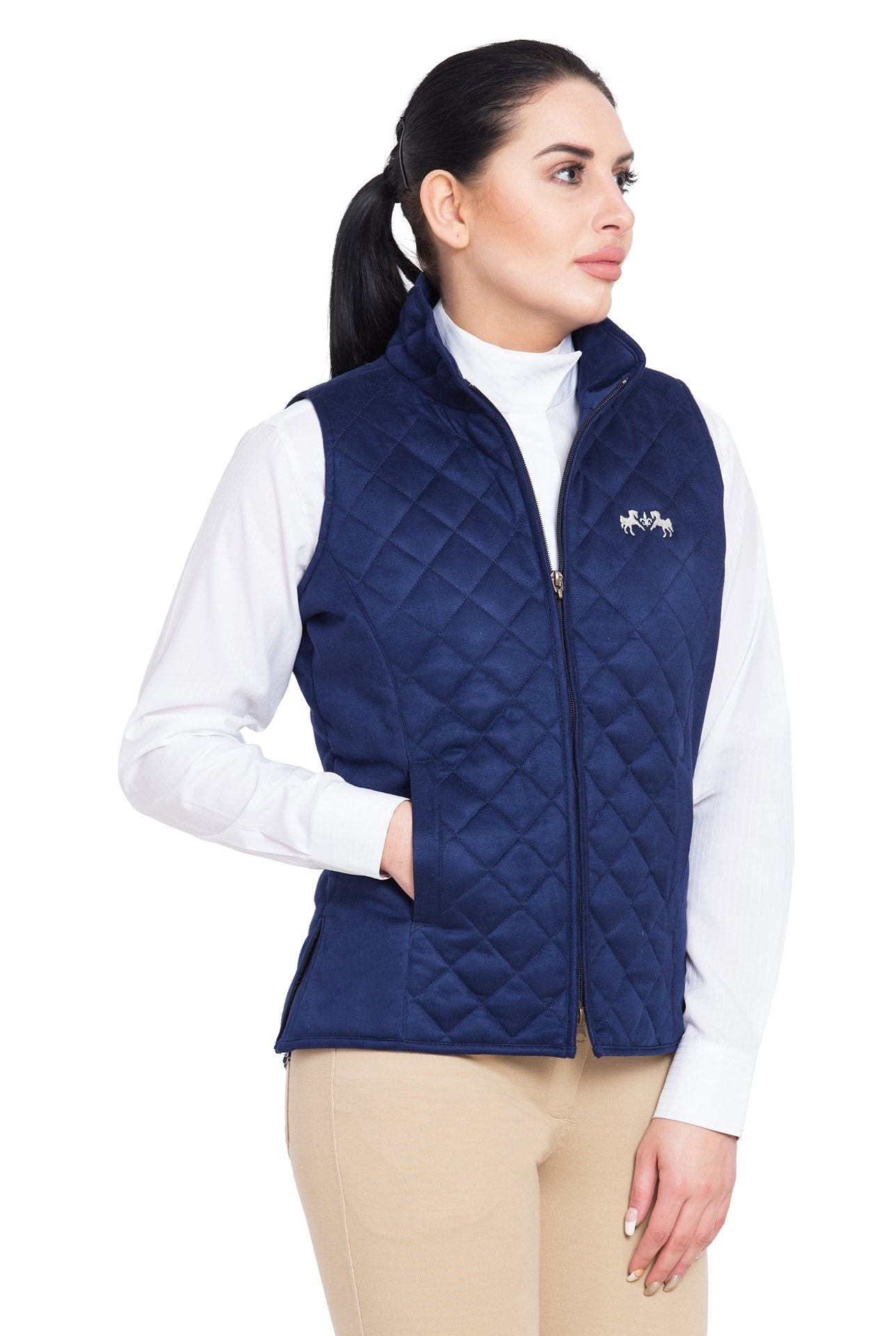 Equine Couture Ladies Spinnaker Micro Suede Vest_1