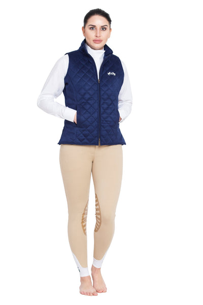 Equine Couture Ladies Spinnaker Micro Suede Vest_5