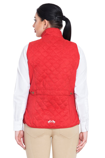 Equine Couture Ladies Spinnaker Micro Suede Vest_10