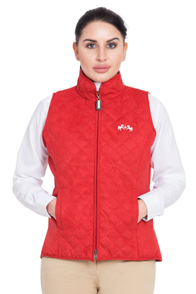 Equine Couture Ladies Spinnaker Micro Suede Vest_8