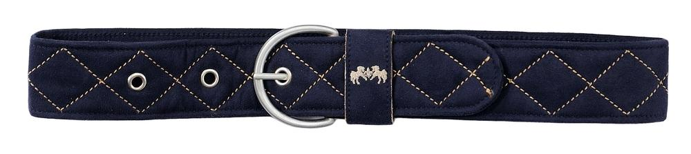 Diamond Quilted Suede Belt with Diagonal Line - Equine Couture - Breeches.com