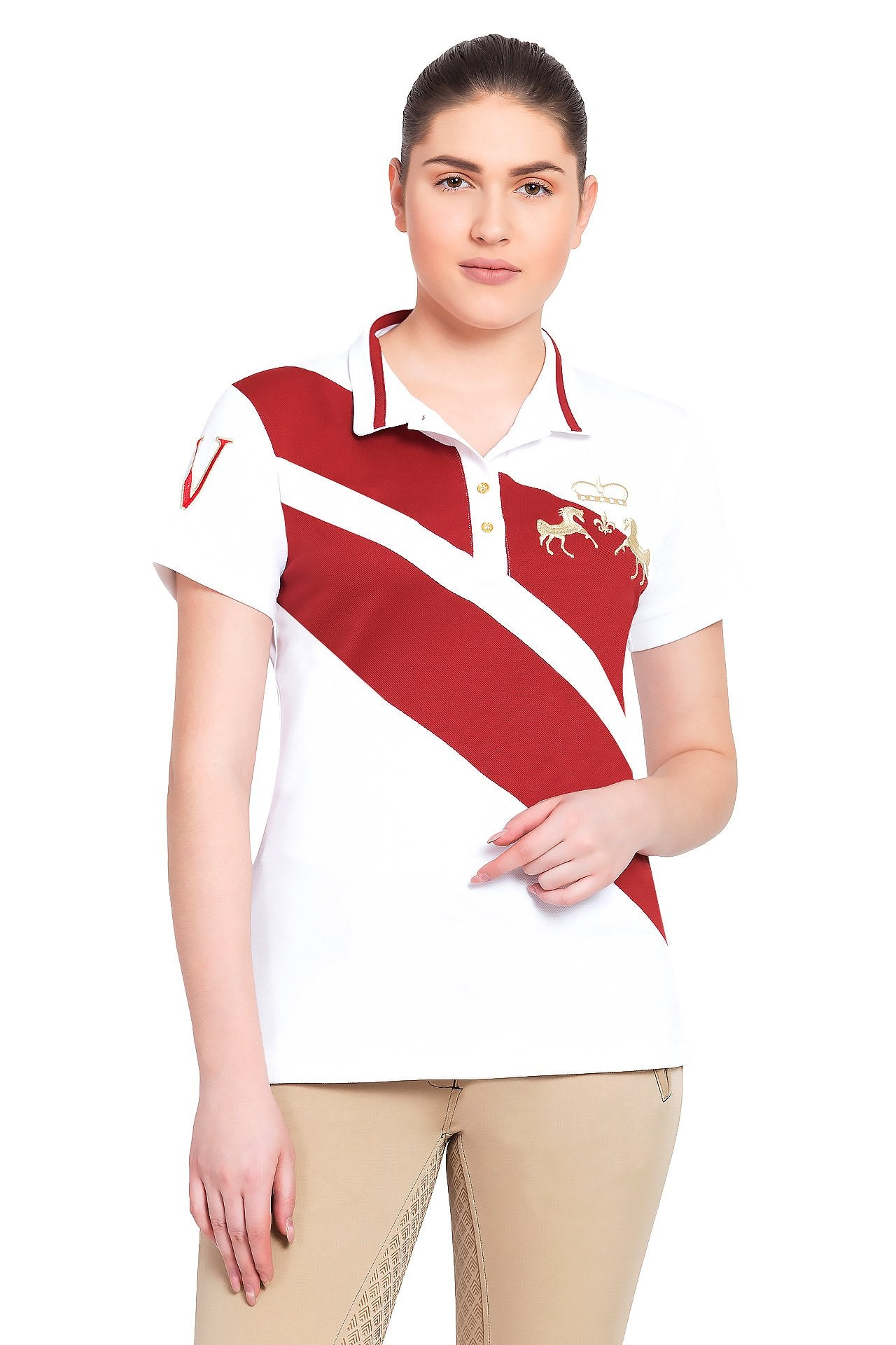 Equine Couture Ladies X-Press Short Sleeve Polo Sport Shirt_1