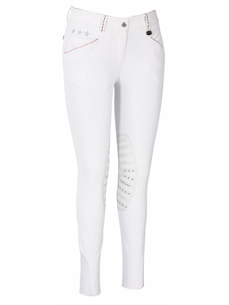 Equine Couture Ladies Stars & Stripes Silicone Knee Patch Breeches_1