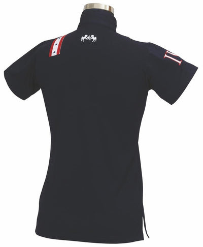 Equine Couture Ladies Stars & Stripes Short Sleeve Polo_3