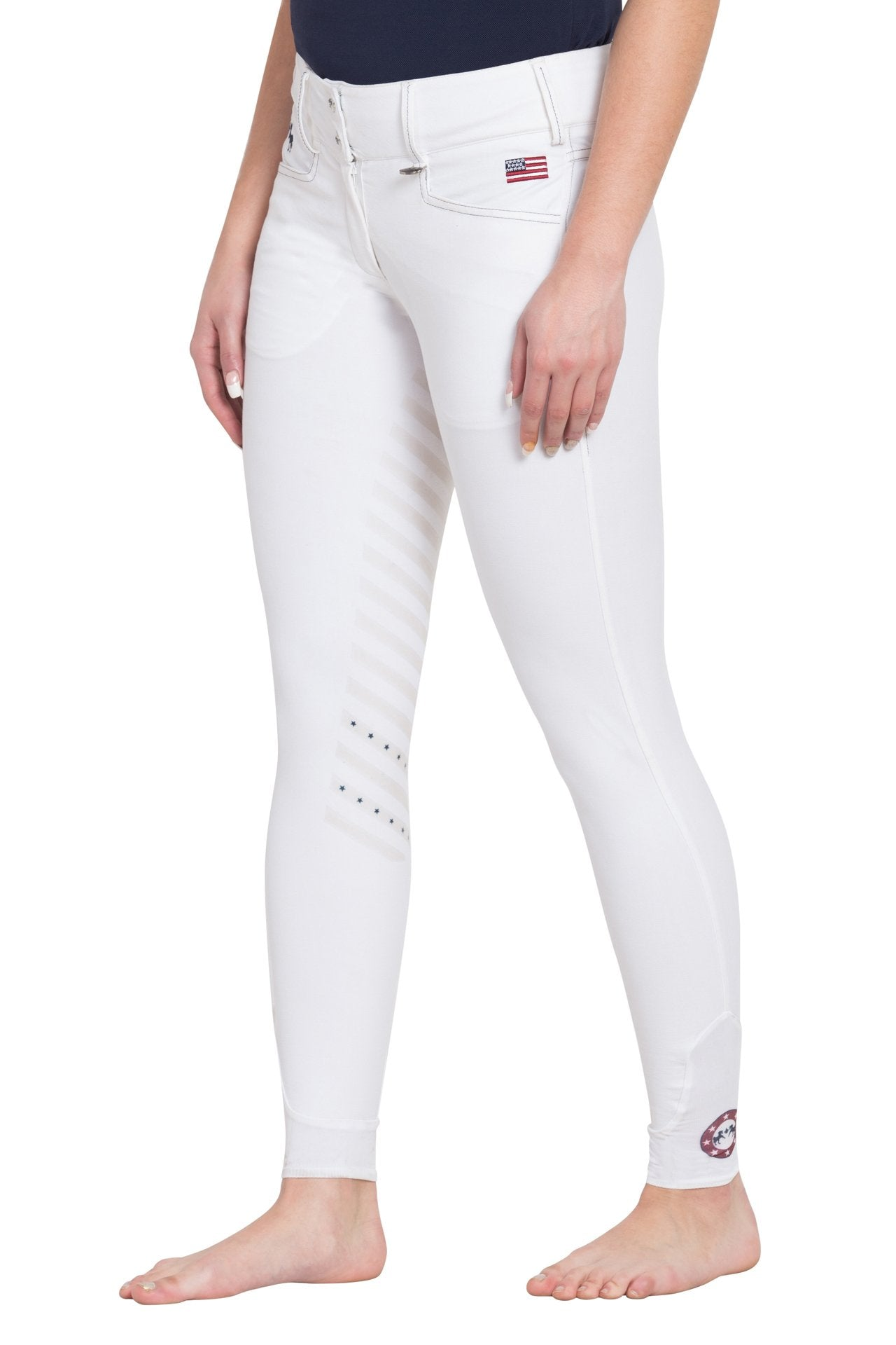 Equine Couture Ladies Bostonian XKP Silicone Extended Knee Patch Breeches_1