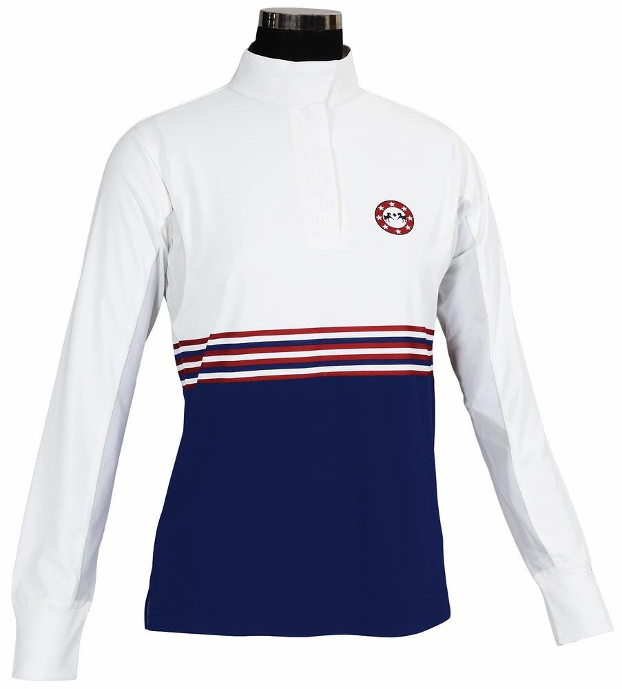 Equine Couture Ladies Centennial Long Sleeve Show Shirt_1