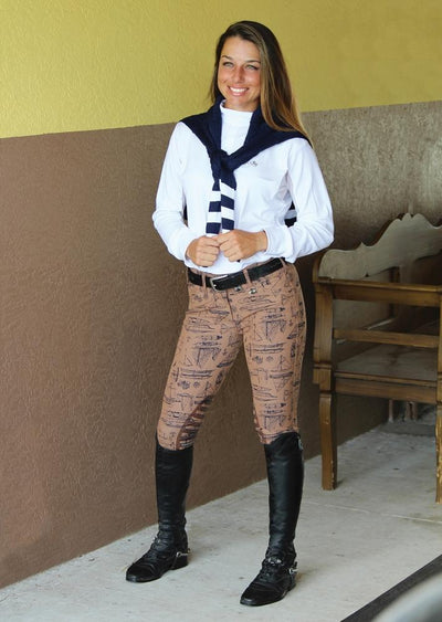 Equine Couture Ladies Darsy Show Shirt_6