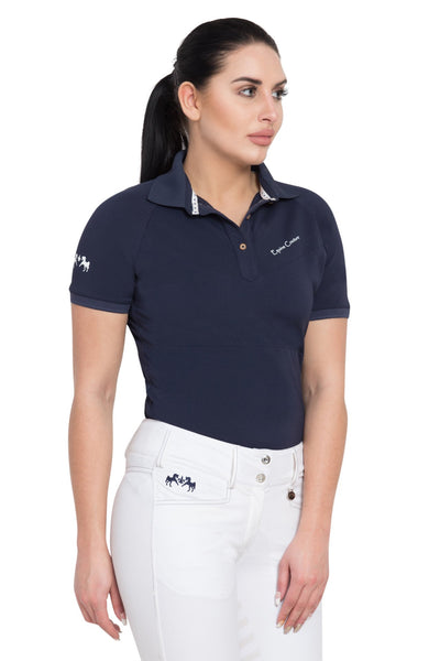 Equine Couture Ladies Performance Short Sleeve Polo Sport Shirt_2