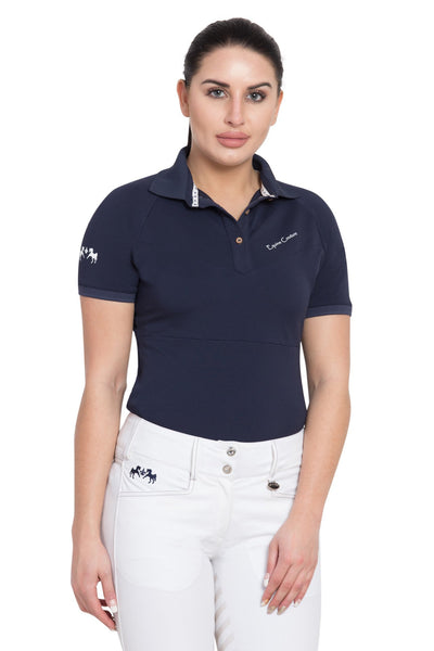 Equine Couture Ladies Performance Short Sleeve Polo Sport Shirt_1