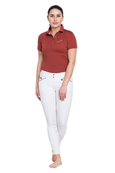 Equine Couture Ladies Performance Short Sleeve Polo Sport Shirt_11