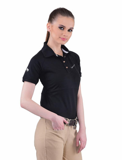 Equine Couture Ladies Performance Short Sleeve Polo Sport Shirt_20