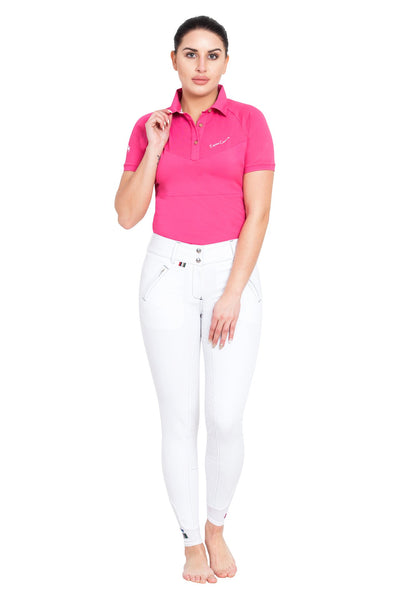 Equine Couture Ladies Performance Short Sleeve Polo Sport Shirt_26