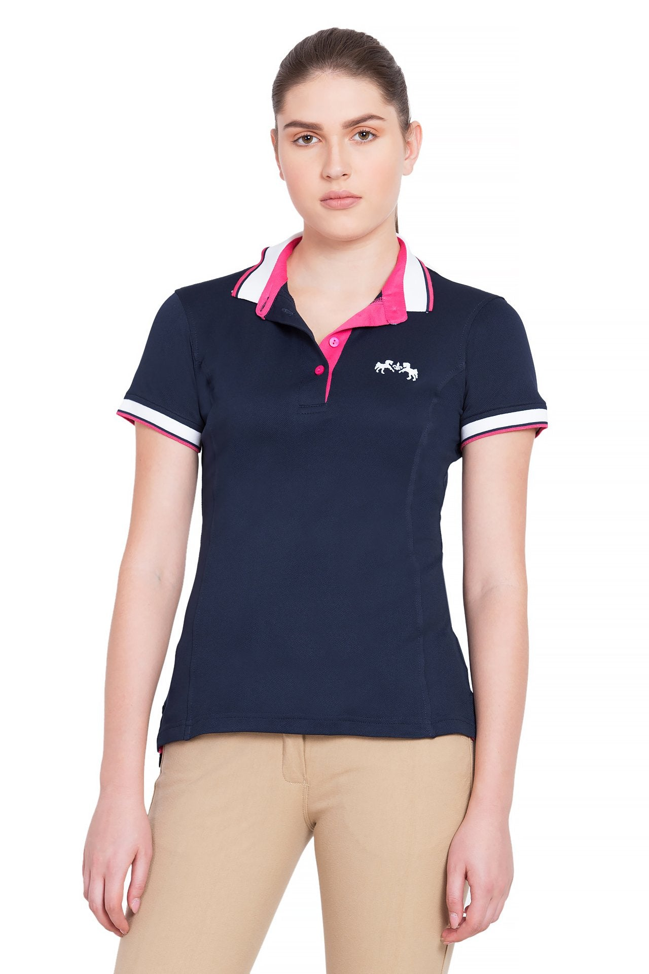 Equine Couture Ladies Kirsten Short Sleeve Polo Sport Shirt_1